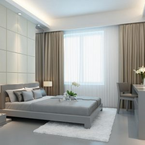 modern-minimalist-bedroom-interior-walls-and-curtains